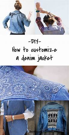 diy to try customized denim jackets customised denim