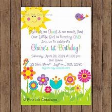 Garden Party Invites Garden Party Invitation Garden Birthday Invitation Spring