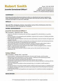 Resume For Correctional Officer Position Correctional Officer Resume Samples Qwikresume
