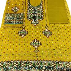 Chunri Design Suit Sindhi Chunri Design Ladies Lawn Dress Yellow Buy Online