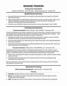 Sample Resume Of Admin Executive Sample Resume Executive Summary Format The Top 4