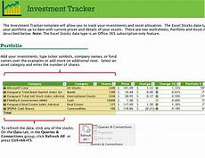 Investment Tracking Spreadsheet Investment Tracker