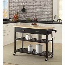 kitchen trolleys and islands kitchen island trolley with open shelves black buy