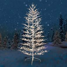 Wire Christmas Tree With Led Lights Ge Pre Lit 7 White Winterberry Artificial Christmas Tree