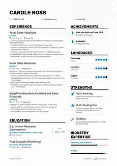 Retail Resume Sales Associate The Best Retail Sales Associate Resume Examples Amp Skills