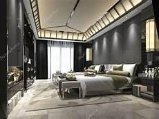 da letto di suite di da letto tropicale 3d rendering lusso in