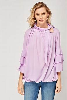 layered flared sleeve blouse just 6