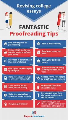 Paper Proofread How To Revise An Essay In College 18 Great Proofreading