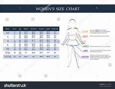 Gant Women S Size Chart Size Chart Women Measurements Clothing Female Stock Vector