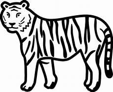 Simple Tiger Outline Tigers Clip Art Clipart Best