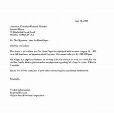 Sample Of No Objection Letter From Employer 21 No Objection Certificate Template Certificate