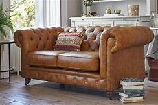 grand chesterfield 3 seater leather sofa