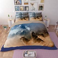 Size Sofa Bed Sheets 3d Image by 3d Wolf Bedding Sets King Size Quilt Cover