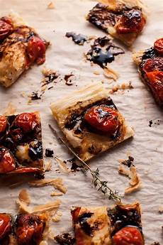roasted tomato puff pastry appetizer salt lavender