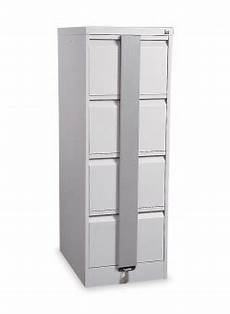silverline kontrax 4 drawer security filing cabinet light
