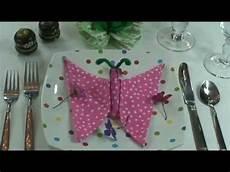 Fold Butterfly Napkin Folding How To Fold My Butterfly Youtube