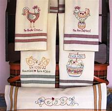 Christmas Tea Towel Embroidery Designs Tea Towels With Whimsical Chicken Designs To Embroider On