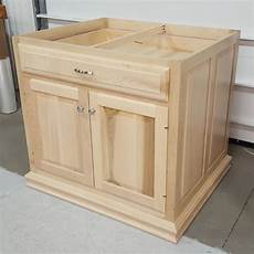 custom maple kitchen island base cabinet amish custom - Kitchen Island Cabinet Base