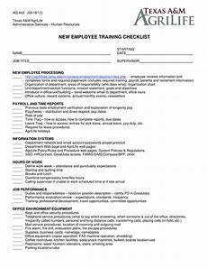 Employee Expectation List New Employee Training Checklist Templates At