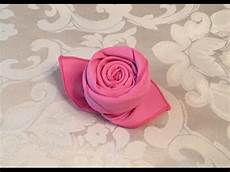 Rose Folding How To Fold A Cloth Napkin Into A Rose In 72 Seconds Youtube