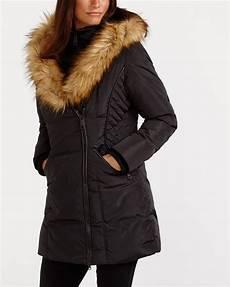 winter for coats faux fur collar winter coat reitmans