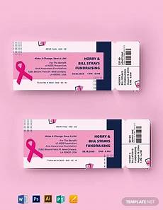 Fundraising Ticket Template 16 Best Fundraising Ticket Templates Illustrator Word