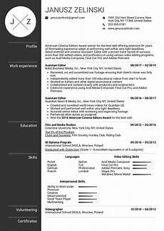 Video Editing Resume Assistant Editor Resume Example Kickresume