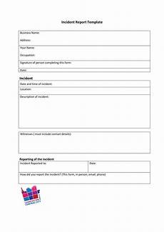Incident Accident Report Template 60 Incident Report Template Employee Police Generic ᐅ