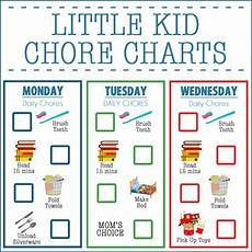 Little Kid Chore Chart Little Kid Chore Charts Ages 2 4 Over The Big Moon