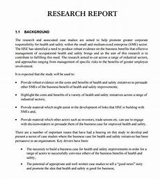 Research Paper Format Template Free 7 Sample Research Reports In Pdf