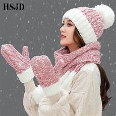 Designer Hat And Scarf Set Women S A Set Of Women Winter Hats Cute Gloves Scarf Set 3 Pieces