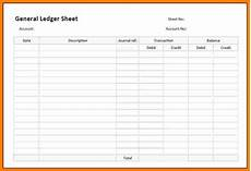 Ledger Template Free 9 Free General Ledger Templates Ledger Review