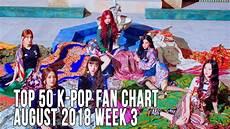 2018 Pop Charts Top 50 K Pop Songs Chart August 2018 Week 3 Fan Chart