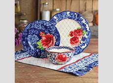 The Pioneer Woman Heritage Floral 12 Piece Dinnerware Set