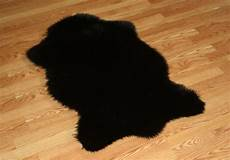 2 x 4 animal shape black faux fur rug washable non