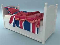 Trundle Sofa Bed 3d Image by White Trundle Bed 3d Model Max Obj 3ds Fbx