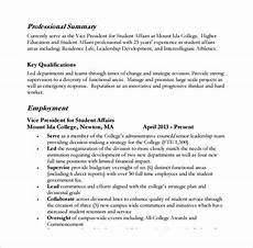 Example Professional Summary Free 8 Sample Professional Summary Templates In Pdf