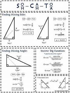 Basic Trig Functions Chart Basic Trigonometry Anchor Chart By Callmeteach Math Tpt