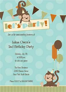 Monkey Birthday Invitations Monkey Around Party Invitations Amp Announcements By