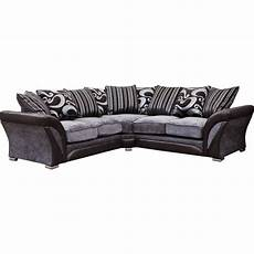 Fabric Sofa Png Image by Manhattan Black And Silver Swirl Fabric Corner Sofa