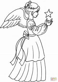 Kostenlose Malvorlagen Engel With Coloring Page Free