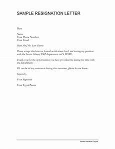 Form Resignation Letter Resignation Letter Template Free Download Create Edit