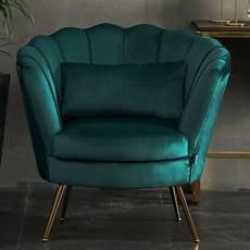velvet sofa armchair scallop shell lotus seat accent tub
