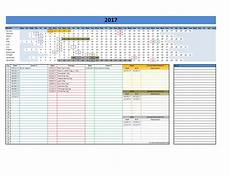 Excel Template Calendar 2017 And 2018 Calendars Excel Templates