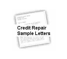 Credit Repair Letters Credit Repair Sample Letters