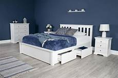 wimbledon white solid wood storage bed 6ft king