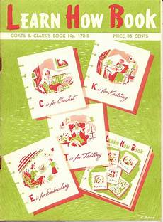 learn how book by coats and clarks care vintage knit crochet shop talk learn how crochet knitting