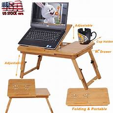 portable laptop desk folding foldable tray bed