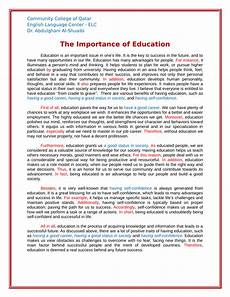 English Essay Importance Of Education Pdf The Importance Of Education