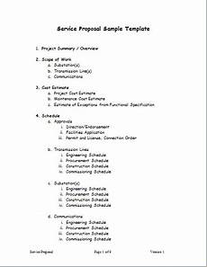 Service Proposal Template Service Proposal Template For Word Word Amp Excel Templates